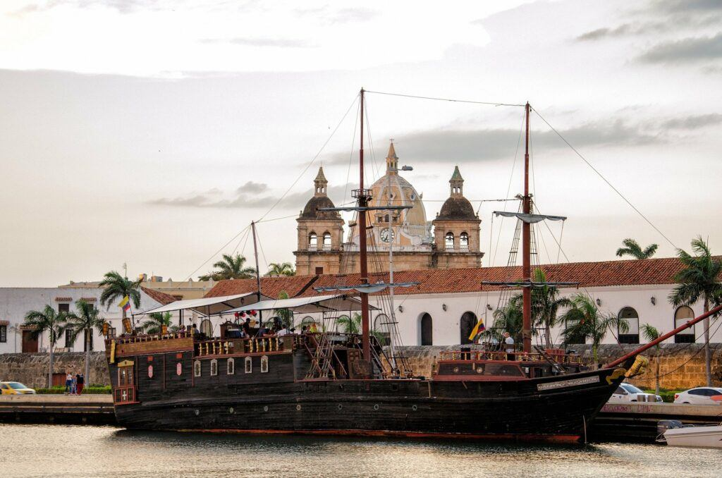 Old sailing ship at Cartagena Colombia. Used in the information page of Colombian City to City Transfers and Airport Transfers.