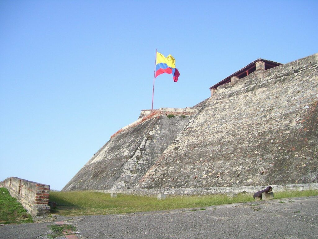 Fortress at Cartagena Colombia used in the information page Colombian City to City Transfers and Airport Transfers