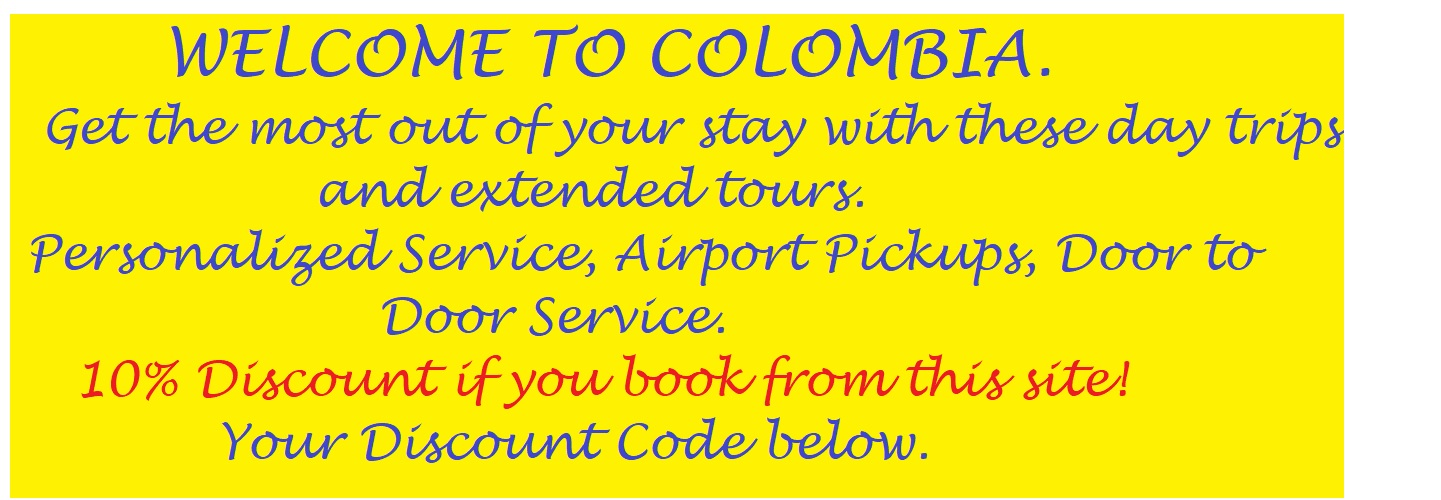 Colombia City to City Transfers Airport Transfers and Day trips.