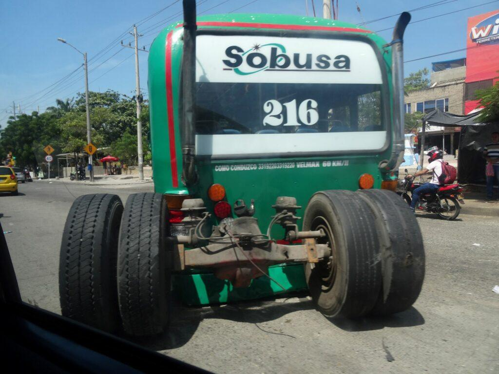 Bus losing its rear wheels. South America Travel Photos and Comment Page.