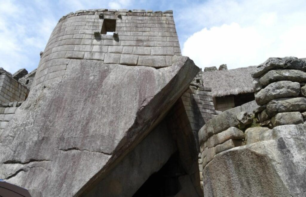 Inca construction Machu Picchu. Shown on the page South America Travel Photos and Comment Page.