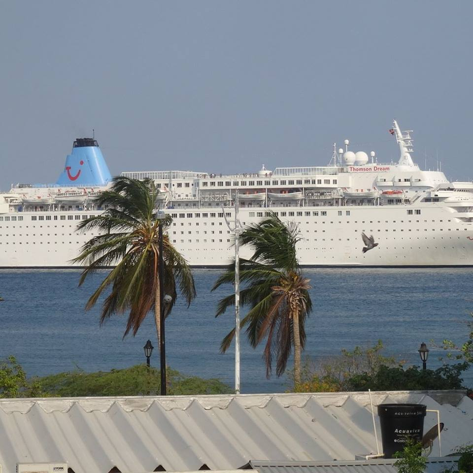 Cruise Ship sailing past Santa marta Colombia. South America Travel Photos and Comment Page.