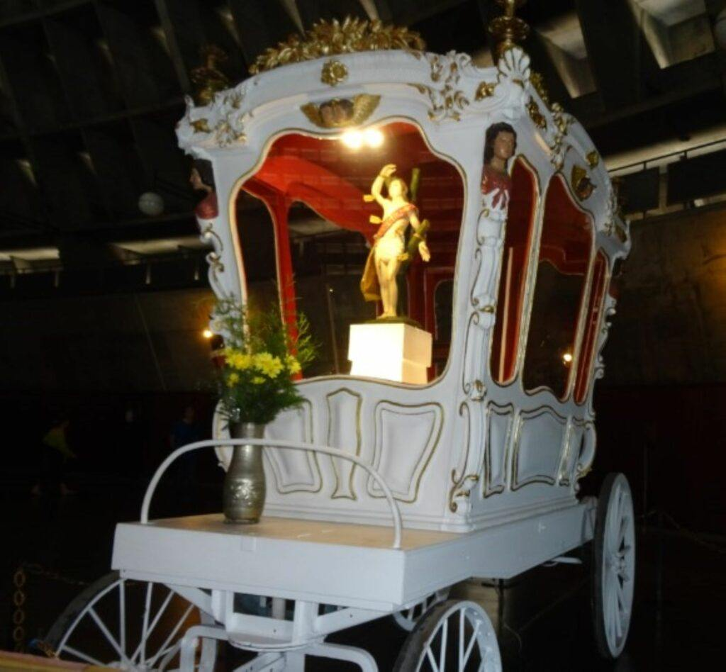 17th century royal carriage in Brazil used on the page South America Travel Photos and Comment Page.